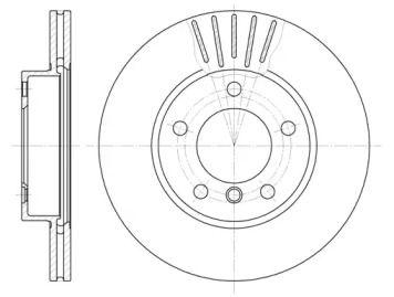 Вентилируемый передний тормозной диск на БМВ З3 'REMSA 6324.10'.