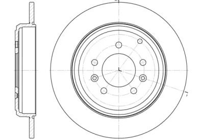Задний тормозной диск на PEUGEOT 605 'REMSA 6330.00'.