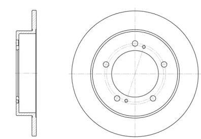 Передний тормозной диск на SUZUKI SAMURAI 'REMSA 6331.00'.