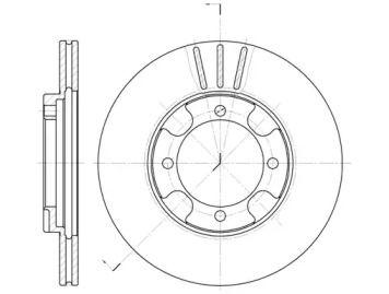 Вентилируемый передний тормозной диск на MITSUBISHI SPACE WAGON 'REMSA 6389.10'.