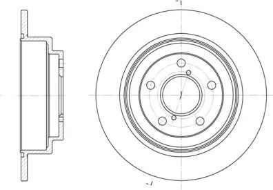 Задний тормозной диск на Субару Легаси Аутбек 'REMSA 6398.00'.