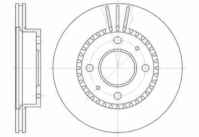 Вентилируемый передний тормозной диск на Ниссан Альмера 'REMSA 6423.10'.