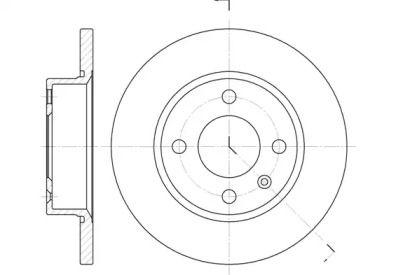 Передний тормозной диск 'REMSA 6425.00'.