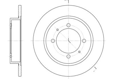 Задний тормозной диск на Митсубиси Спейс Стар 'REMSA 6447.00'.