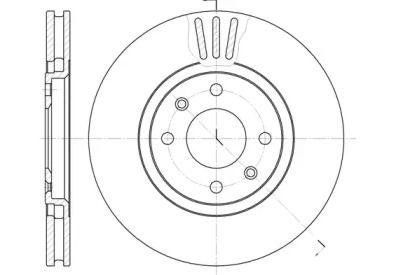 Вентилируемый передний тормозной диск на PEUGEOT 406 'REMSA 6486.10'.