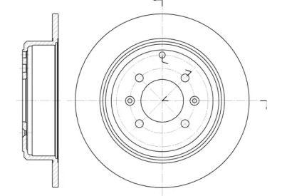 Задний тормозной диск на PEUGEOT 406 'REMSA 6498.00'.