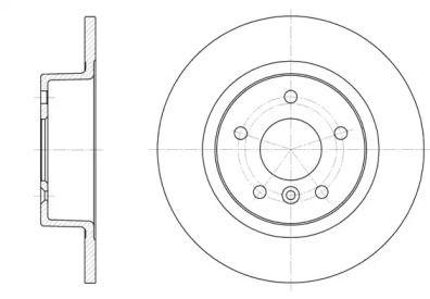 Задний тормозной диск на RANGE ROVER 'REMSA 6506.00'.
