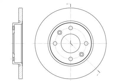 Передній гальмівний диск 'REMSA 6535.00'.