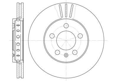 Вентилируемый передний тормозной диск на Шкода Йети 'REMSA 6545.10'.