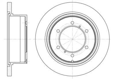 Задний тормозной диск на MITSUBISHI L400 'REMSA 6552.00'.