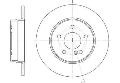 Задній гальмівний диск на Мерседес W210 REMSA 6555.00.