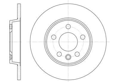 Задний тормозной диск на Фольксваген Траспортер 'REMSA 6558.00'.