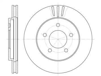 Вентилируемый передний тормозной диск на CHRYSLER 300M 'REMSA 6564.10'.