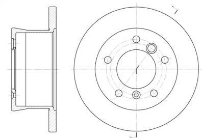 Задний тормозной диск на MERCEDES-BENZ SPRINTER 'REMSA 6566.00'.