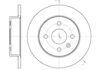 Задний тормозной диск на Опель Мерива 'REMSA 6570.00'.