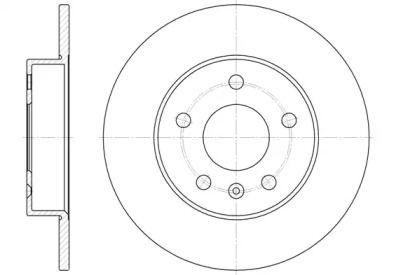 Задний тормозной диск на Опель Зафира 'REMSA 6578.00'.