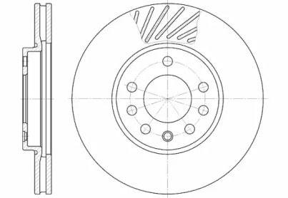Вентилируемый передний тормозной диск на Рено Трафик 'REMSA 6584.10'.