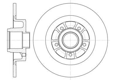 Задний тормозной диск на RENAULT GRAND SCENIC 'REMSA 6613.00'.