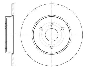 Передний тормозной диск на Смарт Кабрио 'REMSA 6617.00'.