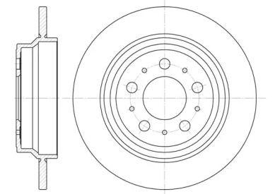 Задний тормозной диск на VOLVO V70 'REMSA 6620.00'.