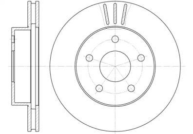 Вентилируемый передний тормозной диск на Джип Гранд Чероки 'REMSA 6626.10'.
