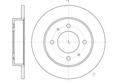 Задний тормозной диск на HYUNDAI LANTRA 'REMSA 6627.00'.