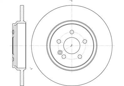 Задний тормозной диск на Мерседес М класс 'REMSA 6631.00'.