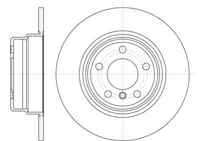 Задний тормозной диск на БМВ Х5 'REMSA 6632.00'.