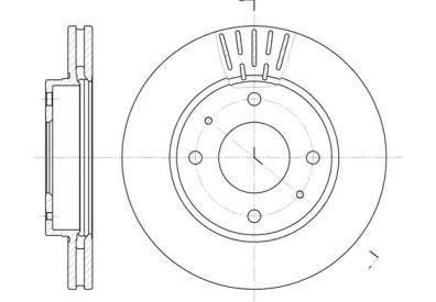 Вентилируемый передний тормозной диск на Хендай Лантра 'REMSA 6633.10'.