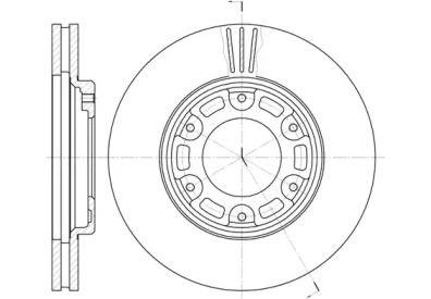 Вентилируемый передний тормозной диск на Тайота Хайэйс 'REMSA 6634.10'.