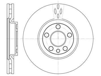 Вентилируемый передний тормозной диск на Ситроен С8 'REMSA 6658.10'.