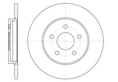 Задний тормозной диск на Ягуар Х-Тайп 'REMSA 6661.00'.