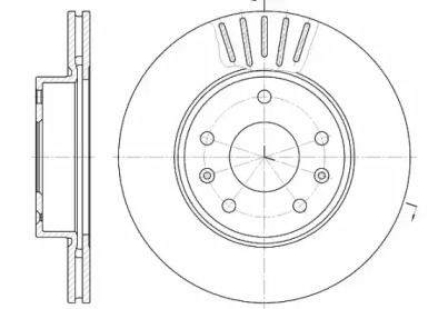 Вентилируемый передний тормозной диск на Фрилендер 'REMSA 6670.10'.
