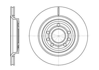 Вентилируемый задний тормозной диск на Кадиллак Блс 'REMSA 6686.10'.