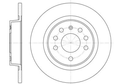 Задний тормозной диск на Сааб 9-3 'REMSA 6688.00'.