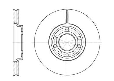 Вентилируемый передний тормозной диск на Кадиллак Блс 'REMSA 6689.10'.