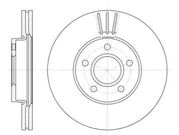 Вентилируемый передний тормозной диск на VOLVO C30 'REMSA 6710.10'.