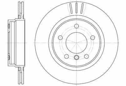 Вентилируемый задний тормозной диск 'REMSA 6722.10'.