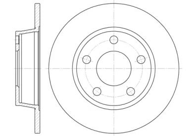 Задний тормозной диск на AUDI ALLROAD 'REMSA 6723.00'.