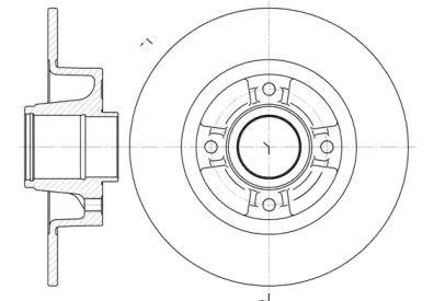 Задний тормозной диск на Рено Модус 'REMSA 6750.00'.