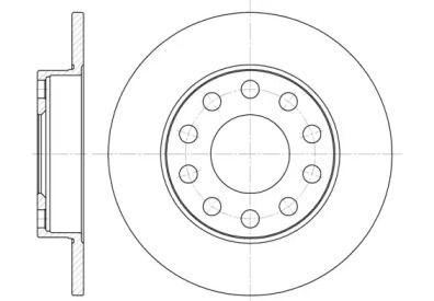 Задний тормозной диск на Сеат Эксео 'REMSA 6753.00'.