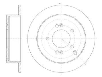 Задний тормозной диск на Хендай Траджет 'REMSA 6756.00'.