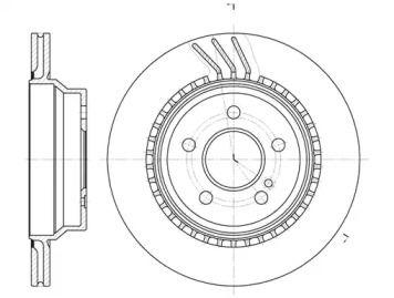 Вентилируемый задний тормозной диск на Мерседес ГЛК 'REMSA 6760.10'.
