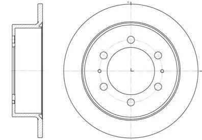 Задний тормозной диск на SSANGYONG KORANDO 'REMSA 6784.00'.