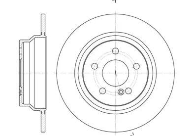 Задний тормозной диск на Мерседес ЦЛС 'REMSA 6787.00'.