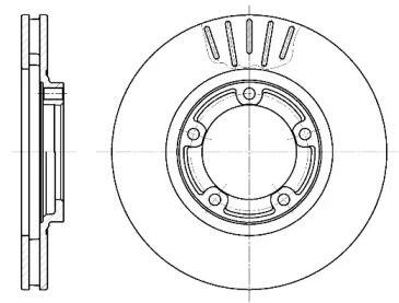 Вентилируемый передний тормозной диск на MITSUBISHI L300 'REMSA 6794.10'.