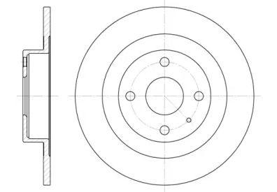 Задний тормозной диск на Мазда БТ 50 'REMSA 6833.00'.