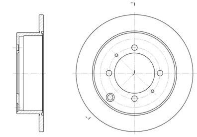 Задний тормозной диск на Хендай Сантамо 'REMSA 6838.00'.