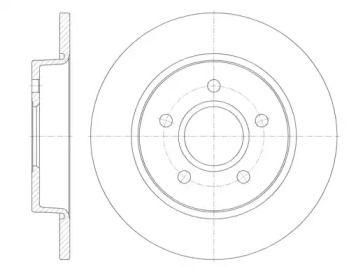 Задний тормозной диск на FORD C-MAX 'REMSA 6846.00'.