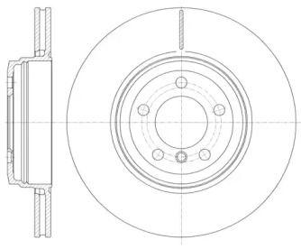 Вентилируемый задний тормозной диск на БМВ 6 'REMSA 6852.10'.